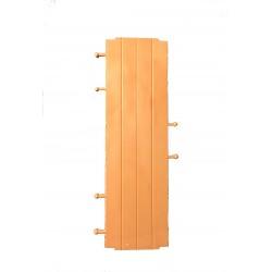 Floor triple slats generic walls