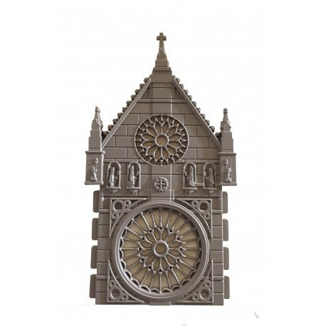 Fachada catedral con rosetón