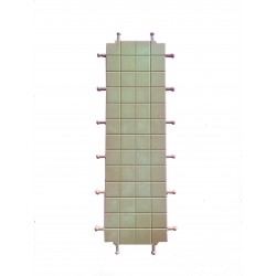 Triple square floor for walls