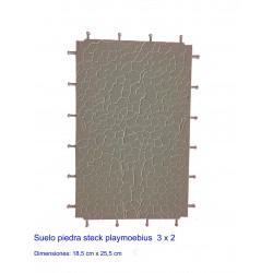 Suelo piedra 3x2 playmoebius steck