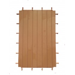 Suelo madera listado triple doble