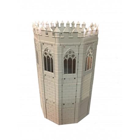 Unión en ángulo para torre octogonal