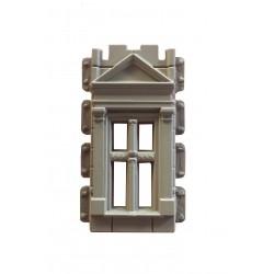 ventana renacentista con triangulo