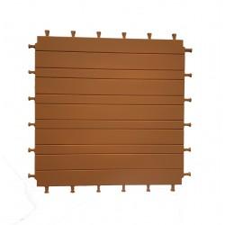 Vloer in resin 3x3 houtkleur voor steck