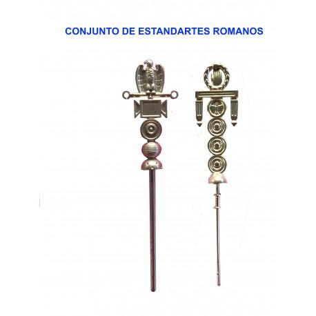Conjunto estandartes romanos
