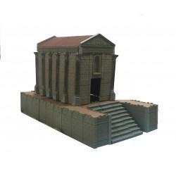 Templo romano con elevación