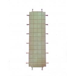 Suelo triple cuadrados para  murallas