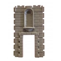 Puerta  de templo con hornacina