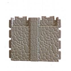 double mur de pierre