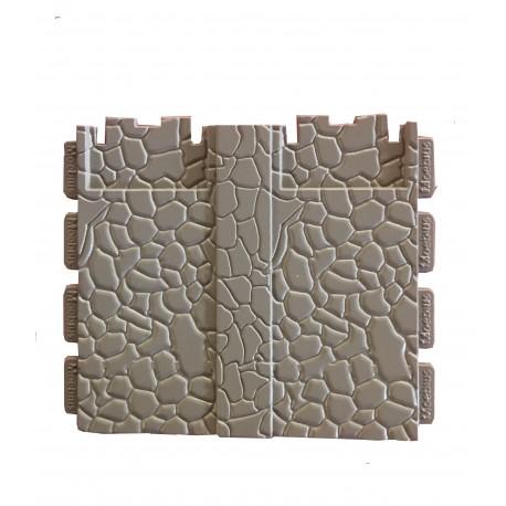 pared doble de piedra
