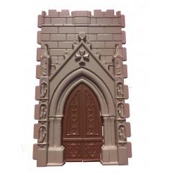 Porte de l'église avec croix templière